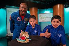 The past EVA winners from New York on a Satellite Media Tour with Mr. Leland Melvin, a STEM advocate, an author, and a former NSTA astronaut.